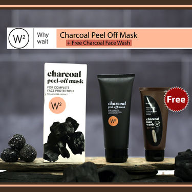 W2 Charcoal Peel Off Mask with Face Wash