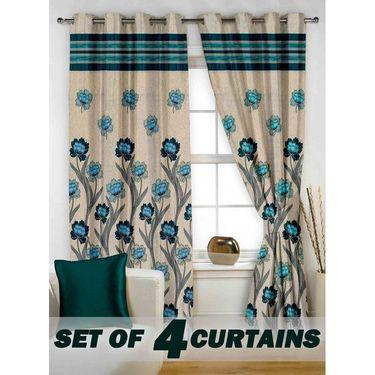 Set of 4 Printed Window curtain-5 feet-WBR_4_4026