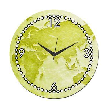meSleep World Wall Clock With Glass Top-WCGL-01-17