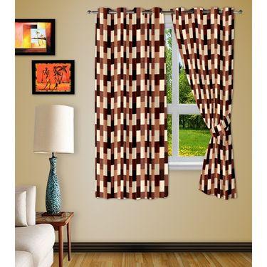 Story @ Home Brown 2 pc Window curtain-5 feet-WNR3051