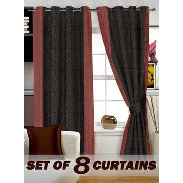 Set of 8 Printed  Window curtain-5 feet-WNR_4_2071