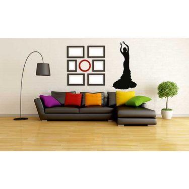 Dancing Lady Decorative Wall Sticker-WS-08-017