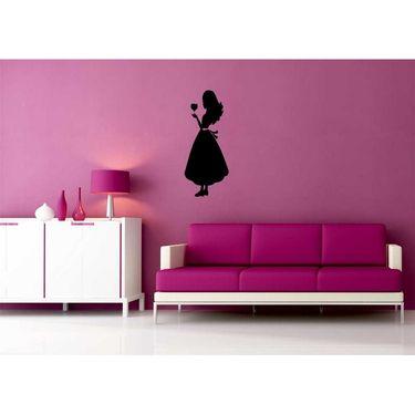Sweet Girl Black Wall Sticker-WS-08-047