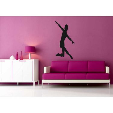 Dancing Girl Decorative Wall Sticker-WS-08-057