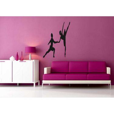 Dancing Girl Decorative Wall Sticker-WS-08-058