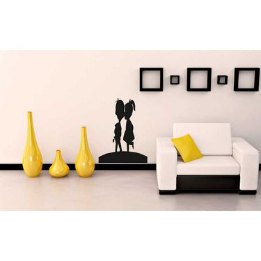 Baby Couple Black Wall Sticker-WS-08-113