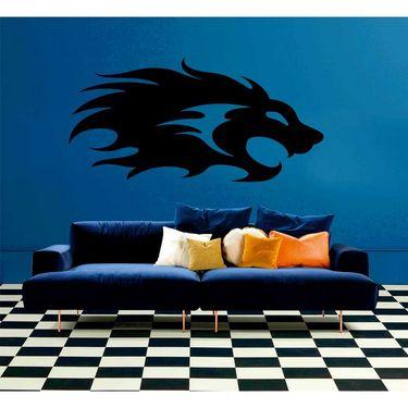 Black Lion Mask Decorative Wall Sticker-WS-08-125