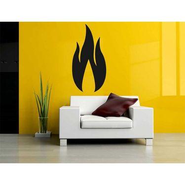 Black Fire Wave Wall Sticker-WS-08-160