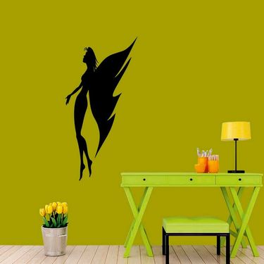 Black Angel Decorative Wall Sticker-WS-08-176