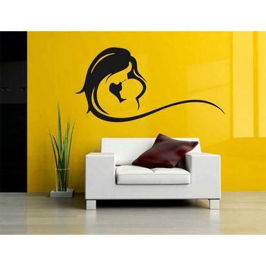 Black Baby & Mummy Decorative Wall Sticker-WS-08-190