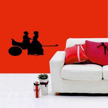 Black Couple Decorative Wall Sticker-WS-08-209