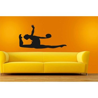 Black Girl Decorative Wall Sticker-WS-08-218