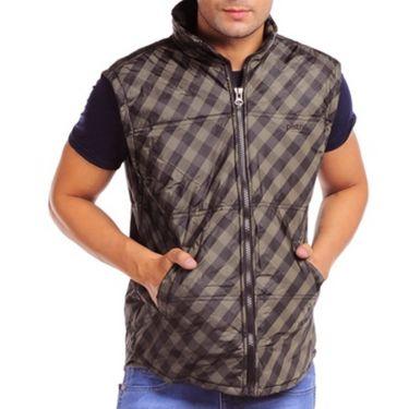 Pistn Sleeveless Jacket For Men_WV0011073 - Brown