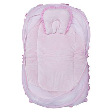 Wonderkids Plain Bedding Set with Mosquito net - Pink