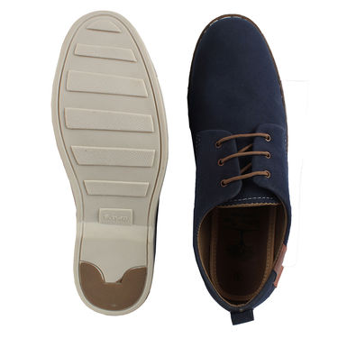 Yellow Tree Suede Leather Navy Blue Casual Shoes -yls02