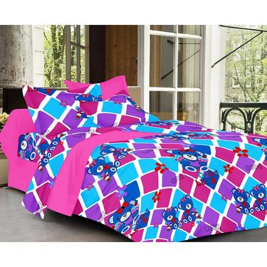 valtellina Set of 2 Double Bed Sheets with 2 Pillow Covers-Y_080-096