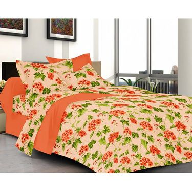 valtellina Set of 2 Double Bed Sheets with 2 Pillow Covers-Y_103-106