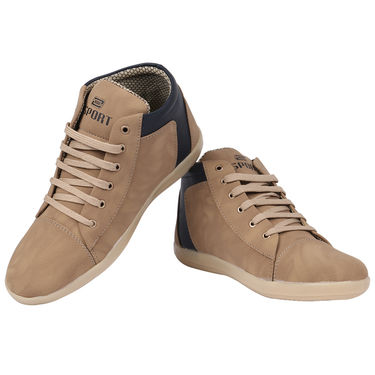 Yellow Tree Synthetic Leather Camel Casual Shoes -osy02