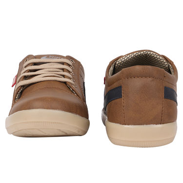 Yellow Tree Synthetic Leather Tan Casual Shoes -osy03