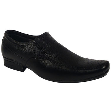 Synthetic Leather Black Formal Shoes -oy02
