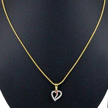 Spargz Heart Pendant Studded CZ Stones_Aip025