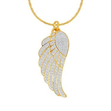 Spargz Wing Design Pendant With CZ Stone_Aip077