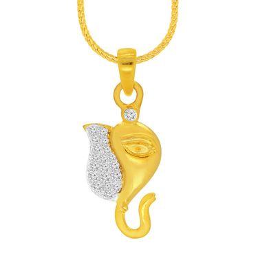 Spargz Ganesh Design Pendant With CZ Stone_Aip086