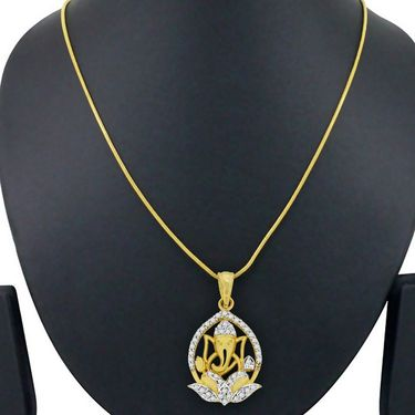 Spargz Spiritual Ganesh Studded Pendant_Aip099
