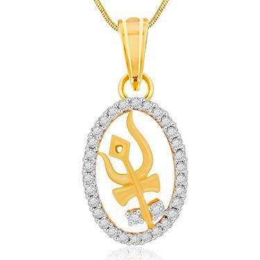 Spargz Spiritual Shiv Trishul Studded Pendant_Aip102