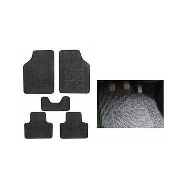 AutoStark Universal Car Foot Mats Carpet (Set Of 5) - Black