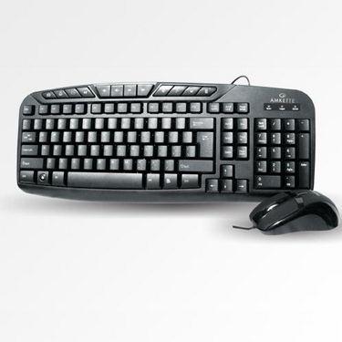 Combo of Amkette Magnum Desktop PS/2 Keyboard + Mouse - Black