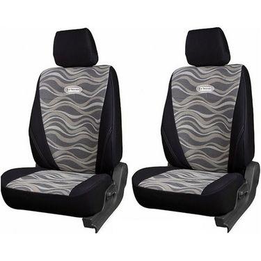 Branded Printed Car Seat Cover for Chevrolet Spark - Black