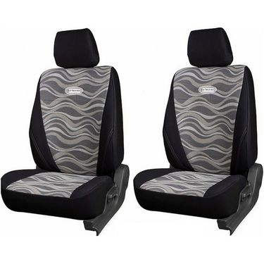 Branded Printed Car Seat Cover for Mitsubishi Pajero Sport - Black