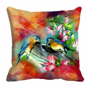 Set of 3 Pakshi Digital Beautiful Printed Cushion Covers-cd-4pakshi