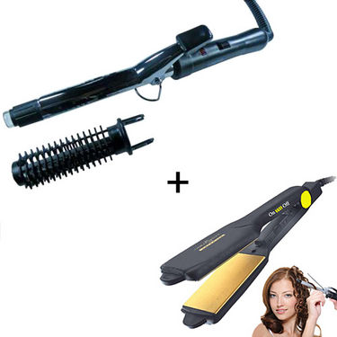 Combo Of Nova Hair Curling Iron & Hair Straightener