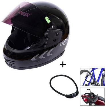 Combo of Full Face Helmet + 4 Digit Multipurpose Number Lock
