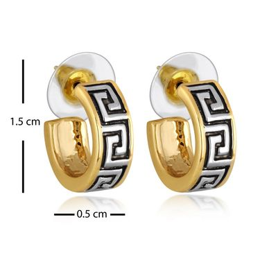 Spargz Combo of 4 Pair Fashion Hoop Earring in Gold Finish_Cb319