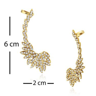 Spargz Combo of 4 Pair Earring Cuff Studded With AD Stone_Cb321