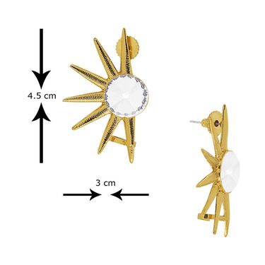 Spargz Combo of 3 Pair Earring Cuff With Gold Finish_Cb322