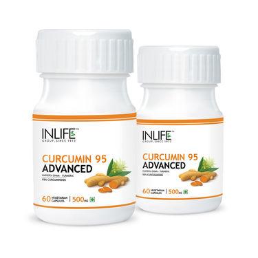INLIFE Pack of 2 Curcumin 95 Advanced (Turmeric Extract) Veg Capsules