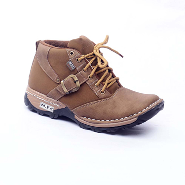 Foot n Style leather Boots  FS239 - Brown