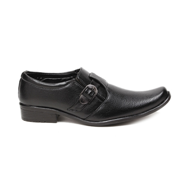 Foot n Style Faux Leather Formal Shoes  FS165 - Black