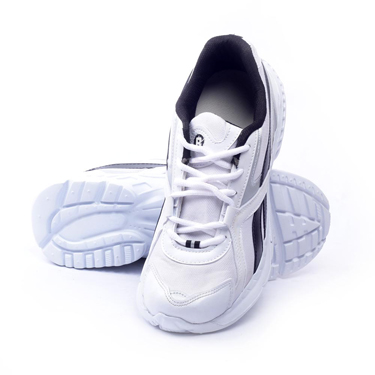 Foot n Style Synthetic  leather Sports Shoes  FS418 - White