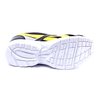Foot n Style Synthetic  leather Sports Shoes  FS423 - Black & Yellow