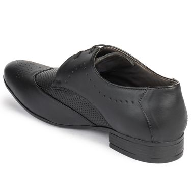 Foot n Style Cordovan Leather Black Formal Shoes -fs3039