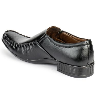 Foot n Style Leather Black Formal Shoes -fs3047
