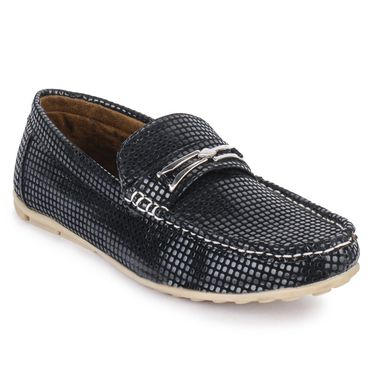 Foot n Style Black Loafers -Fs3053