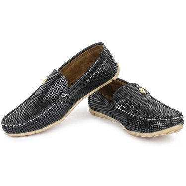 Foot n Style Black Loafers -Fs3056