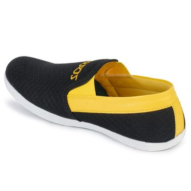 Foot n Style Black & Yellow Casuals  Shoes -Fs3066