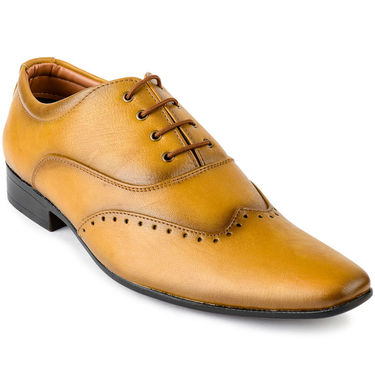 Foot n Style Leather Teak Formal Shoes -fs3096
